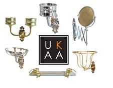 Thomas Crapper Bathroom Accessories - Soap Dish, Tumbler Holder, Sponge Basket