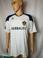LA Galaxy MLS Soccer Jersey White Los Angeles Climalite Mens Large Herbalife