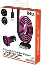 Pink Rubberized Iphone4 Car Charger Kit -