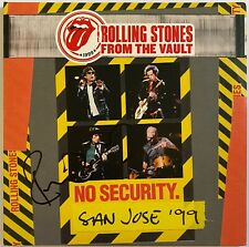 """THE ROLLING STONES HAND SIGNED 12"""" VINYL - FROM THE VAULT NO SECURITY."""