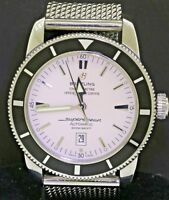 Breitling SuperOcean Heritage A17320 46mm SS automatic Ivory dial men's watch
