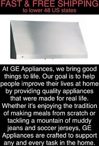 """*FREE SHIPPING* New GE Profile 600-CFM 30"""" Stainless Tall Range Hood 7"""" Ductwork"""