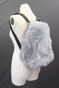 NWT$3295 Brunello Cucinelli 100% Fur Trim Leather Backpack W/Monili Beading A181