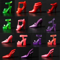 Mix 80pcs 40 Pair Different High Heel Shoes For BarbieDoll Clothe Accessories HM