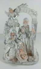 Mary Joseph and Baby Jesus Collectible Resin Christmas Detailed Statue Ornament
