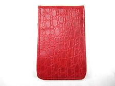 Sunfish Leather Golf Scorecard & Yardage Book Holder / Cover - Red Croc
