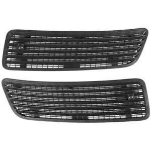 Pair Front Hood Vent Grille Air Radiator Fit For 2008-13 Mercedes W221 W216 W251