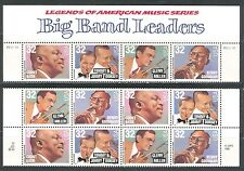 UNITED STATES 1996, BIG BAND LEADERS, MUSIC, Sc 3096-3099 x 3 sets, MNH
