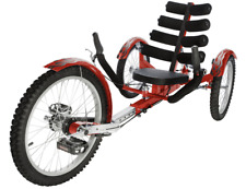 "Mobo Shift 20"" 3 WHEEL Trike Tricycle RECUMBENT Bike with reverse Red"