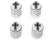 Cross - Christian Tire Rim Valve Stem Caps - Aluminum