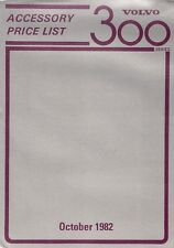 Volvo 300-Series Accessories Price List 1982-83 UK Market Foldout Brochure