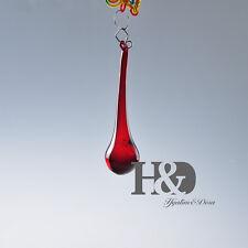 25 pc  Red Rain Drop Crystal Prisms Lighting Pendant Parts Glass Lamp Chandelier