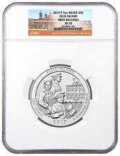 2017-P Ellis Island 5 oz. Silver America Beautiful Coin NGC SP70 FR SKU48483