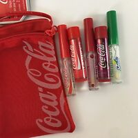 Lip Smackers Coca-Cola Simply Refreshing Lip Collection 5 pcs/1 Zip Pouch
