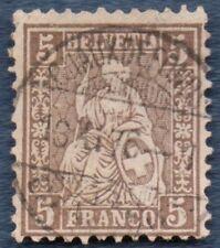 SWITZERLAND 1862 5 c  with 'CHAUX DE FONDS' cds (A679)