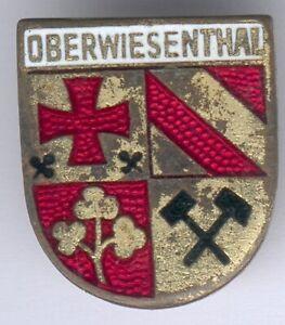Deutsches Reich Abzeichen Oberwiesenthal -emailliert, an orig. Nadel, II