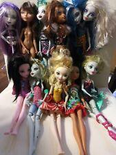 Monster High Girl Dolls Mattel Lot of 10