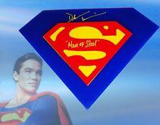 "Dean Cain Autographed Superman 3D Emblem Logo W/""Man Of Steel"" Inscrption COA"
