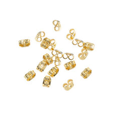 Earring Scroll Back Gold Plated Butterfly Stoppers 4mm Pack of 20 (H44/2)