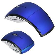 Foldable 2.4G Wireless Folding Arc Optical Mouse Mice For Microsoft Laptop Blue