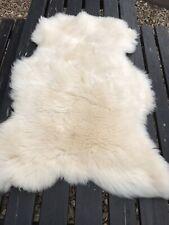 Large British Natural Super Soft and Thick Wool Sheepskin Rug 90x65cm B3-14