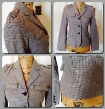 Zara Trafaluc Outerwear Women's Button up Houndstooth Pattern Jacket Size S