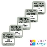 5 SONY 335 SR512SW BATTERIES SILVER OXIDE 1.55V WATCH BATTERY EXP 2021 NEW