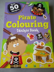 Pirate Colouring Sticker Book