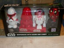 Star Wars Galerie Dispensers with sound,  Candy Vader, Darth Maul, Trooper MISP