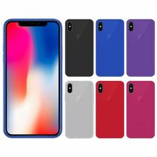 "Funda gel lisa Apple IPHONE X 5.8"" + protector cristal opcional"