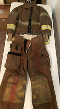Retired Firefighter Turnout Set Janesville Lion Brown Jacket 44x32r Pants 36xl