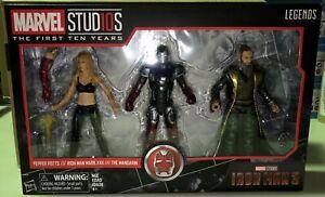 Marvel Legends First Ten Years Iron Man 3 Pack - MCU Petter Potts, The Mandarin