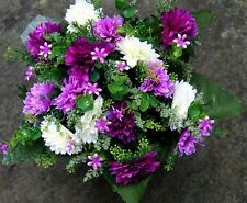 Quality Artificial / Silk Flower Arrangement Grave / Memorial / Crem Pot