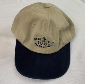 Vintage Polo Ralph Lauren PRLC Anchor Logo Strapback Hat Yellow Blue Cap