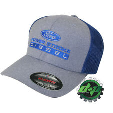 blue ford powerstroke flexfit fitted trucker ball cap hat back diesel gear OSFA