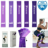 Resistance Loop Bands Set Strength Fitness Gym Exercise Yoga Workout Pull Up