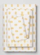 New Opalhouse 3 Piece Sheet Set Twin Xl Gold Star Burst Medallion Cotton Blend