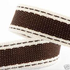 Best Quality Cut Lengths Vintage Rustic Stitch Cotton Twill Ribbon 15mm Craft