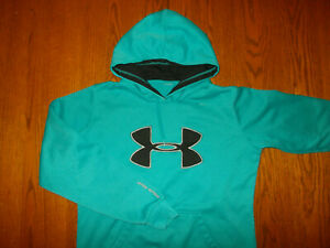 UNDER ARMOUR AQUA  BLUE HOODED SWEATSHIRT WOMENS LARGE EXCELLENT CONDITION