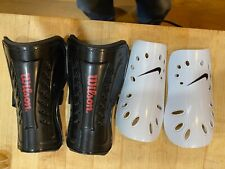 Shin Guards(2 sets) Nike never used and Wilson used 3x. Kids
