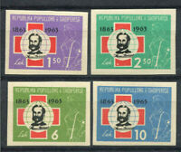 Albanien 1963 Mi. 721-724 Postfrisch 100% geschnitten Rotes Kreuz