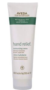 Aveda hand relief cream creme moisturizing 8.5 oz  250 ml Back Bar Size