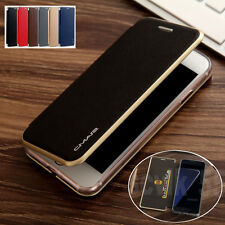 For Samsung Galaxy S8 Plus /S7 Edge Flip Leather Wallet Card Magnetic Case Cover