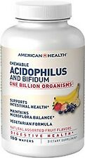 Acidophilus and Bifidum  Assorted Fruit American Health Products 100 Chewable