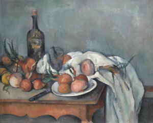 Paul Cezanne Still Life with Onions Giclee Art Paper Print Poster Reproduction