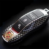 Carbon Fiber Remote Key Case Shell Cover Trim For Porsche Cayenne Panamera Macan
