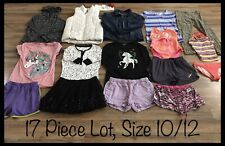 Girls Clothing Lot, 17 Items, Size 10/12, OP, Cherokee, Hello Kitty, Faded Glory