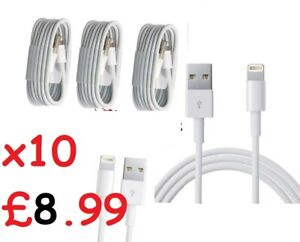 10 x  USB iPhone Charger Fast For Apple Long Cable USB Lead 5 6 7 8 X XS XR 11 1