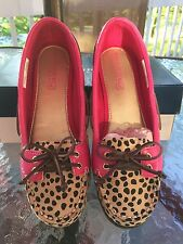SPERRY TOP-SIDER GIRL'S AUDREY LEOPARD / PINK, SIZE YOUTH GIRLS 4 1/2M; NIB