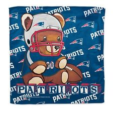 """New England Patriots Littlest Fan Burp Cloth 16""""x16"""" Polyester NFL Authentic NWT"""